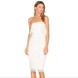 NEW LIKELY White Lace Strapless Driggs Dress